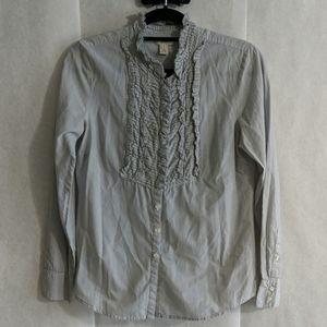 J.Crew blouse, fine pin stripe detail Sz 6